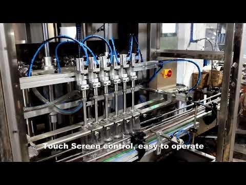 automatic 6 heads dispensing detergent chlorine liquid filling filler machine line