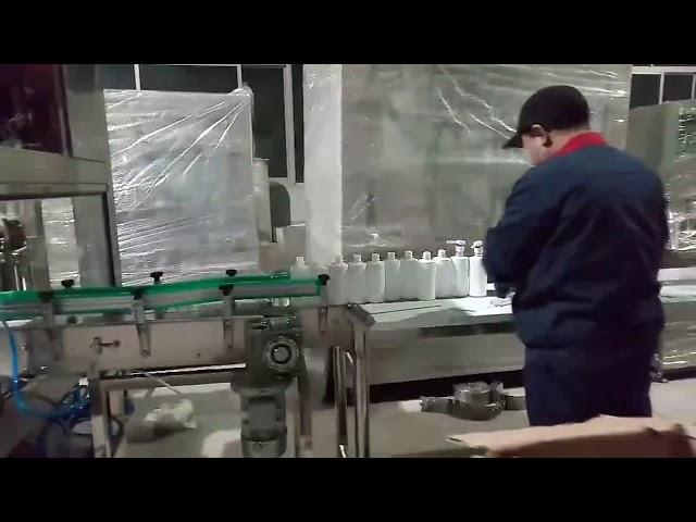 hand soap gel alcohol filling bottling line machine