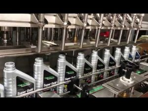 full automatic piston lubricant oil lube oil filling equipment line