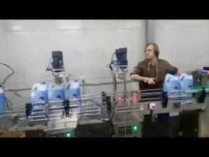 automatic anti corrosive toilet cleaner disinfectant liquid bleach filling machine line