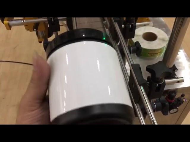 pet glass jar aluminium can and bottle sticker labeling machine