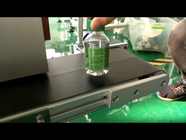 desktop sticker labeling machine for plastic water bottles