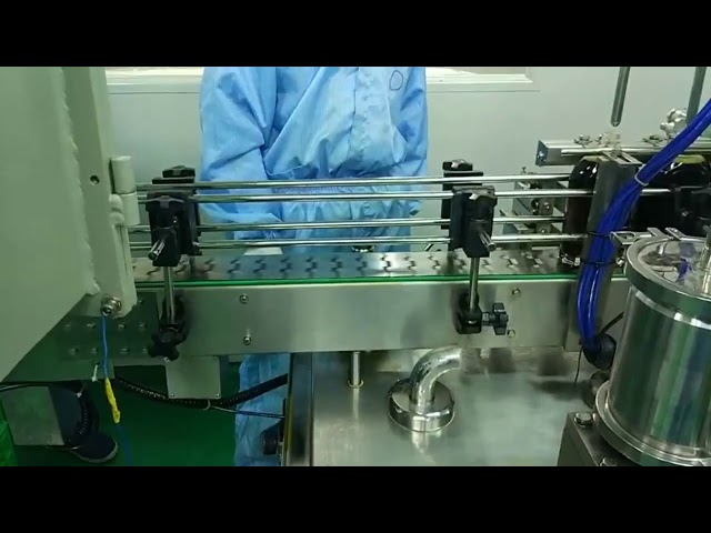 30ml to 100ml double track filling and screwing machine for round bottle