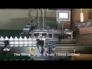automatic 2 nozzle servo shampoo bottle filling machine