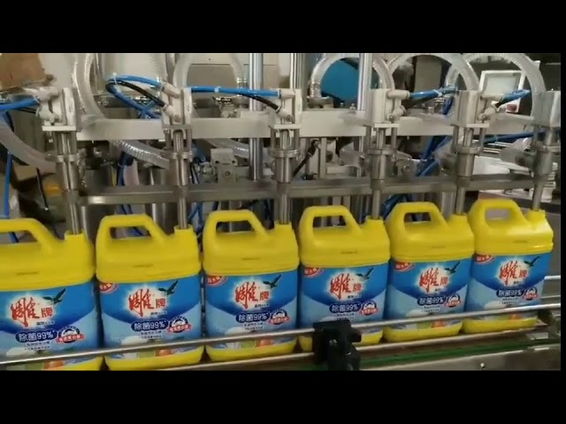 automatic 8 heads laundry detergent shampoo bottle filling machine