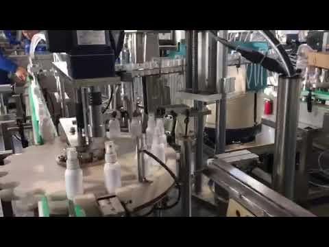 sanitizer liquid filling machine, ethanol disinfectants filling machine