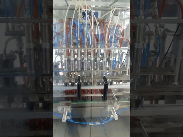 volumetric liquid edible oil pet bottle filling machine