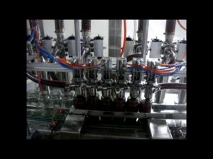 linear automatic 4 heads piston bottle viscous ketchup sauce liquid packing filling machine