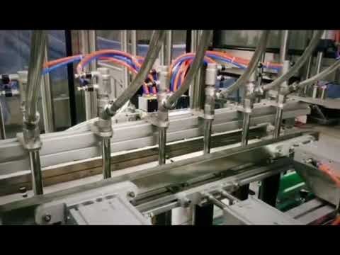 automatic piston linear detergent, shampoo, lubricant oil viscous liquid bottling machine