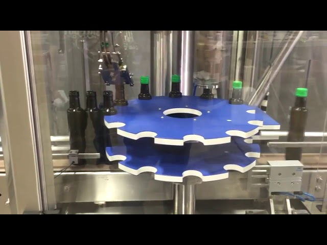 ropp aluminum screw cap automatic capping sealing machine for glass bottle