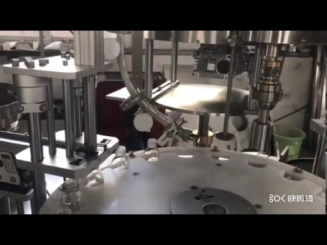 automatic plc controlled liquid bottle plugging and capping machine