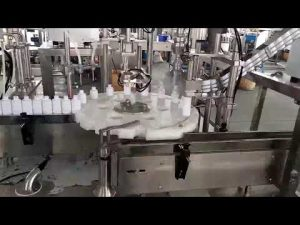 cosmetics medical plastic bottle filling capping machine