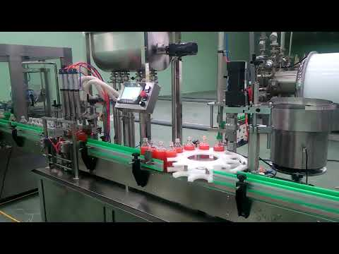 4 heads automatic jam filling and capping machine
