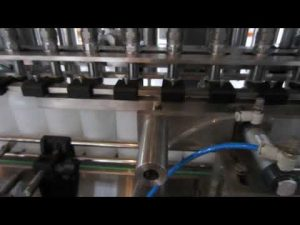 automatic liquid detergent and disinfectant fluid filling machine