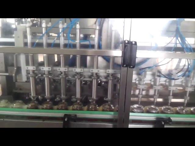 automatic glass honey jar yogurt filling sealing machine