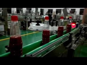 high speed full auto bottle filling machine for ketchup, jam, sauce