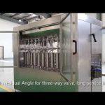automatic piston pet glass bottle oil liquid filling capping labeling machine line