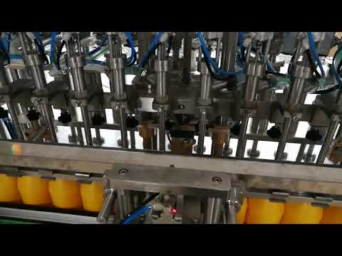 12 heads automatic bottle filling machine for ketchup oils sauce cosmetic