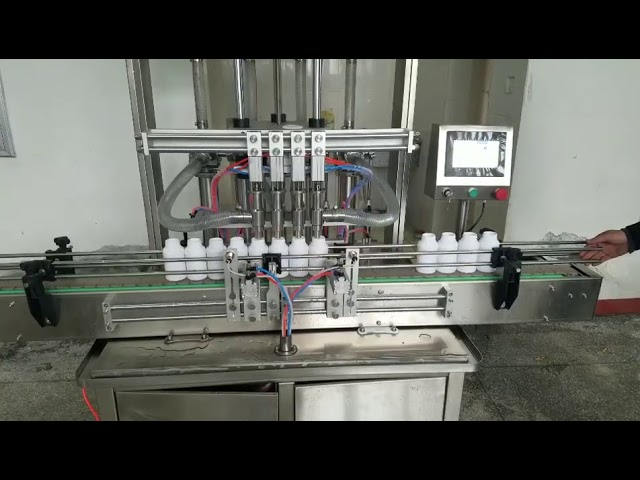 automatic viscous liquid paste bottle filling machine for liquid soap, body lotion, shampoo