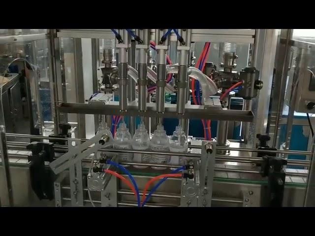 automatic hand sanitiser alcohol detergent filling machine
