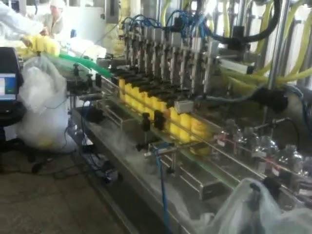 automatic piston diving nozzles shampoo filling machine