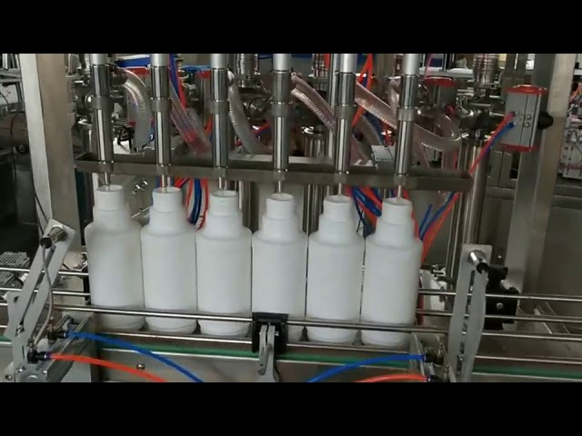 engine lube lubricant essential oil piston bottles filling machine