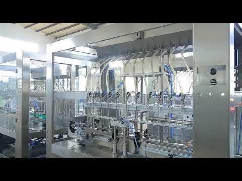 factory automatic linear viscous liquid edible oil bottle jar filling machine