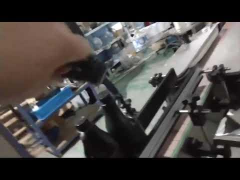 automatic inline straight glass bottle aluminum cap ropp capping machine